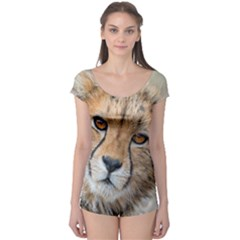 Leopard Laying Down Short Sleeve Leotard