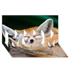 Baby Fox Sleeping Mom 3d Greeting Card (8x4)