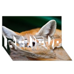Baby Fox Sleeping Believe 3d Greeting Card (8x4)