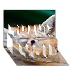 Baby Fox Sleeping Thank You 3d Greeting Card (7x5)  by trendistuff