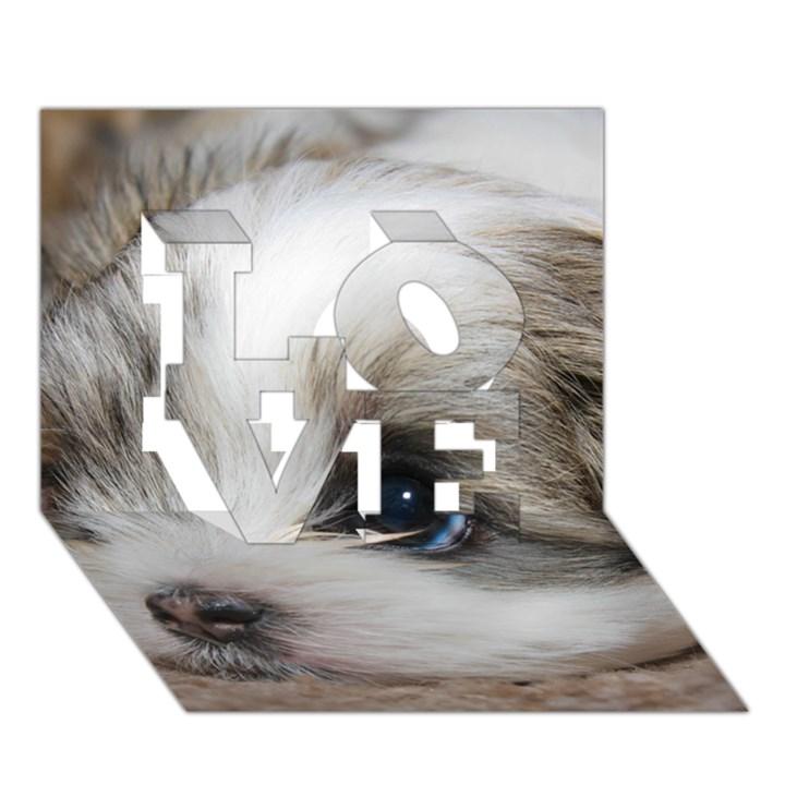 SAD PUPPY LOVE 3D Greeting Card (7x5)