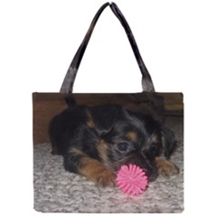 Puppy With A Chew Toy Tiny Tote Bags