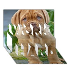 Cute Wrinkly Puppy Work Hard 3d Greeting Card (7x5)  by trendistuff