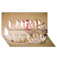 Adorable Sleeping Puppy Laugh Live Love 3d Greeting Card (8x4)