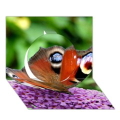 Peacock Butterfly Circle 3d Greeting Card (7x5)  by trendistuff
