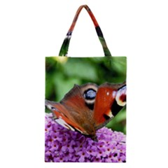 Peacock Butterfly Classic Tote Bags by trendistuff