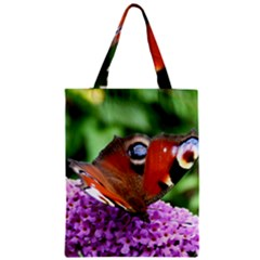 Peacock Butterfly Zipper Classic Tote Bags by trendistuff