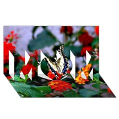 Butterfly Flowers 1 Mom 3d Greeting Card (8x4)  by trendistuff