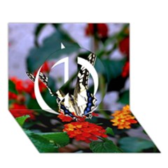 Butterfly Flowers 1 Peace Sign 3d Greeting Card (7x5)  by trendistuff