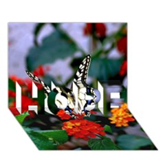 Butterfly Flowers 1 Hope 3d Greeting Card (7x5)
