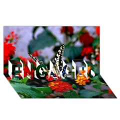 Butterfly Flowers 1 Engaged 3d Greeting Card (8x4)