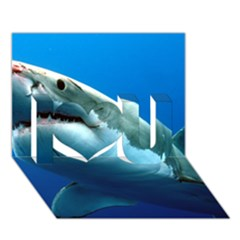 Great White Shark 3 I Love You 3d Greeting Card (7x5)