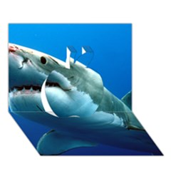 Great White Shark 3 Apple 3d Greeting Card (7x5)  by trendistuff