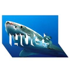Great White Shark 3 Hugs 3d Greeting Card (8x4)