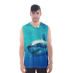 GREAT WHITE SHARK 1 Men s Basketball Tank Top by trendistuff