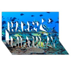 Fr Frigate Shoals Happy Birthday 3d Greeting Card (8x4)