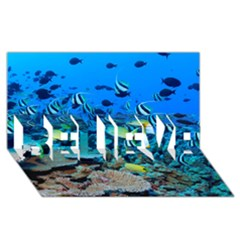 Fr Frigate Shoals Believe 3d Greeting Card (8x4)  by trendistuff