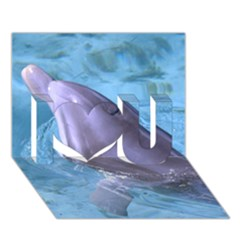 Dolphin 2 I Love You 3d Greeting Card (7x5)  by trendistuff
