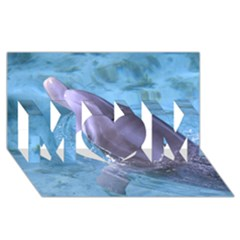 Dolphin 2 Mom 3d Greeting Card (8x4)