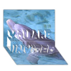Dolphin 2 You Are Invited 3d Greeting Card (7x5)  by trendistuff