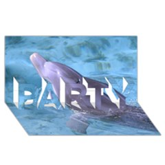 Dolphin 2 Party 3d Greeting Card (8x4)  by trendistuff