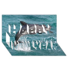 Dolphin Happy New Year 3d Greeting Card (8x4)  by trendistuff