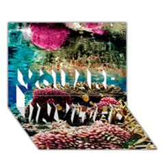 Coral Reefs 1 You Are Invited 3d Greeting Card (7x5)  by trendistuff
