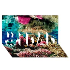 Coral Reefs 1 #1 Dad 3d Greeting Card (8x4)