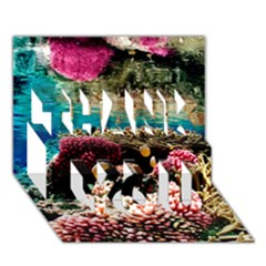 Coral Reefs 1 Thank You 3d Greeting Card (7x5)  by trendistuff