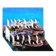 Coral Outcrop 2 Work Hard 3d Greeting Card (7x5)  by trendistuff
