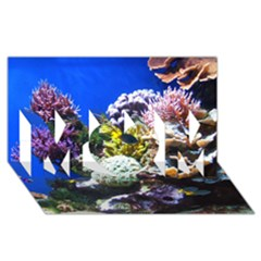 Coral Outcrop 1 Mom 3d Greeting Card (8x4)  by trendistuff