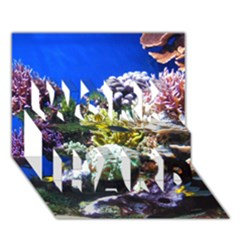 Coral Outcrop 1 Work Hard 3d Greeting Card (7x5)  by trendistuff