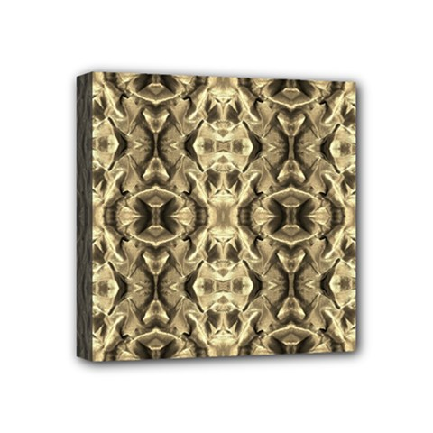 Gold Fabric Pattern Design Mini Canvas 4  x 4  by Costasonlineshop