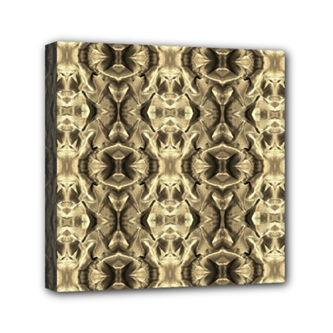 Gold Fabric Pattern Design Mini Canvas 6  X 6