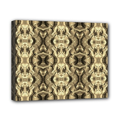 Gold Fabric Pattern Design Canvas 10  X 8