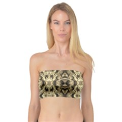 Gold Fabric Pattern Design Women s Bandeau Tops by Costasonlineshop
