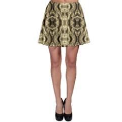 Gold Fabric Pattern Design Skater Skirts by Costasonlineshop