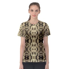 Gold Fabric Pattern Design Women s Sport Mesh Tees by Costasonlineshop