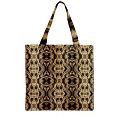 Gold Fabric Pattern Design Zipper Grocery Tote Bags by Costasonlineshop