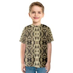 Gold Fabric Pattern Design Kid s Sport Mesh Tees