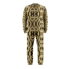 Gold Fabric Pattern Design Onepiece Jumpsuit (kids)