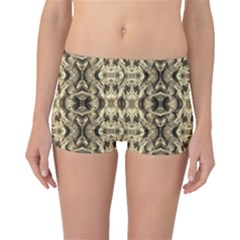 Gold Fabric Pattern Design Boyleg Bikini Bottoms by Costasonlineshop