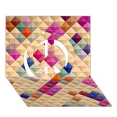 Mosaic & Co 01a  Peace Sign 3d Greeting Card (7x5)  by MoreColorsinLife