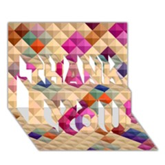 Mosaic & Co 01a  Thank You 3d Greeting Card (7x5)  by MoreColorsinLife