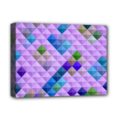 Mosaic & Co 01b Deluxe Canvas 16  X 12   by MoreColorsinLife