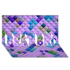 Mosaic & Co 01b Best Bro 3d Greeting Card (8x4)  by MoreColorsinLife