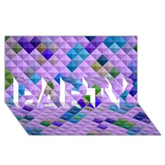 Mosaic & Co 01b Party 3d Greeting Card (8x4)  by MoreColorsinLife