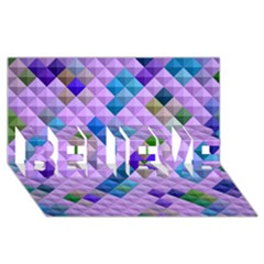 Mosaic & Co 01b Believe 3d Greeting Card (8x4)