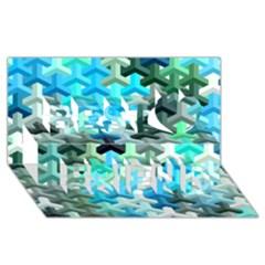 Mosaic & Co 02a Best Friends 3d Greeting Card (8x4)