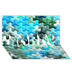 Mosaic & Co 02a Sorry 3d Greeting Card (8x4)  by MoreColorsinLife
